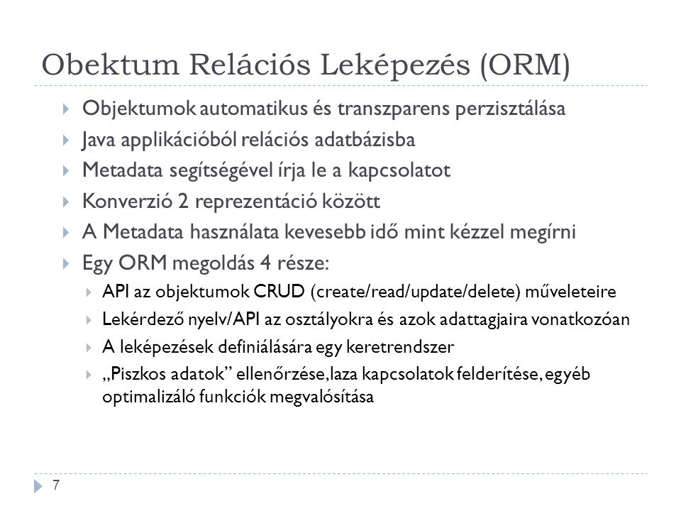 Obektum Relációs Leképezés (ORM)