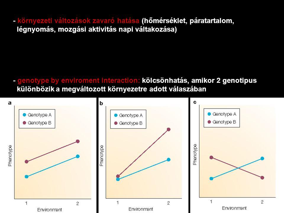 - környezeti változások zavaró hatása (hőmérséklet, páratartalom,