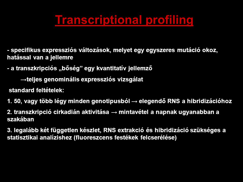 Transcriptional profiling