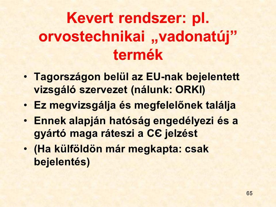 """Kevert rendszer: pl. orvostechnikai """"vadonatúj termék"""