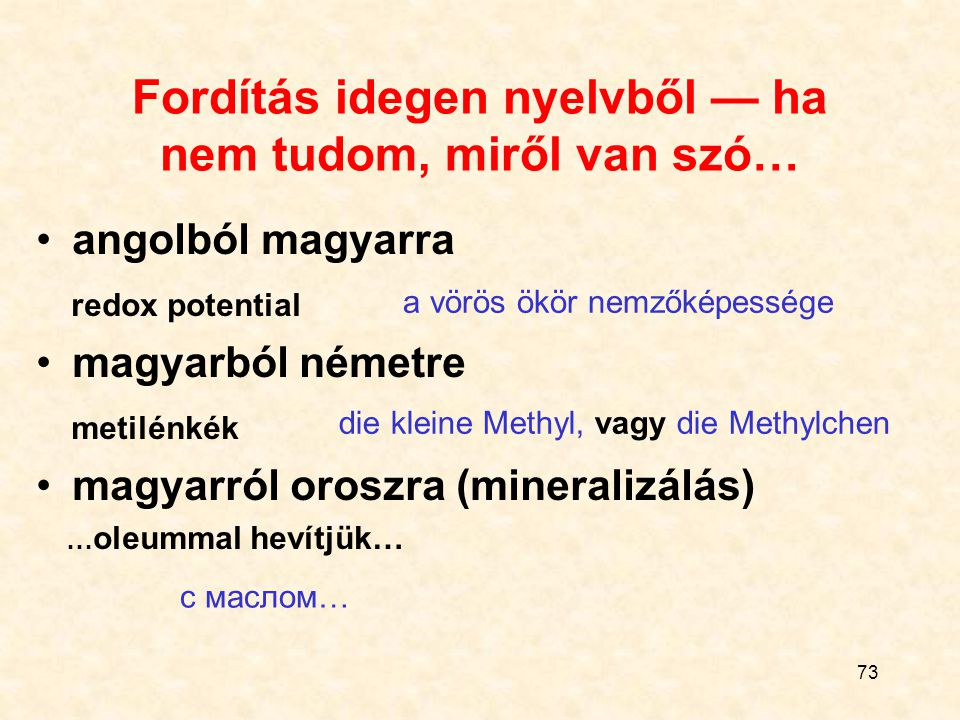 Fordítás idegen nyelvből — ha nem tudom, miről van szó…