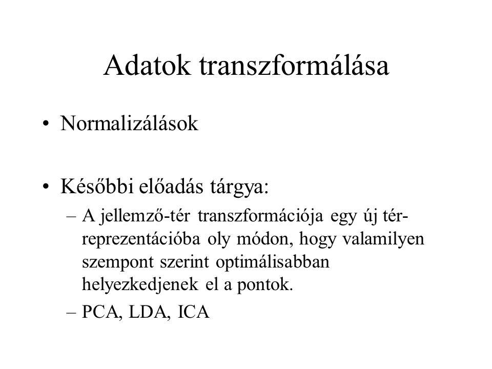 Adatok transzformálása