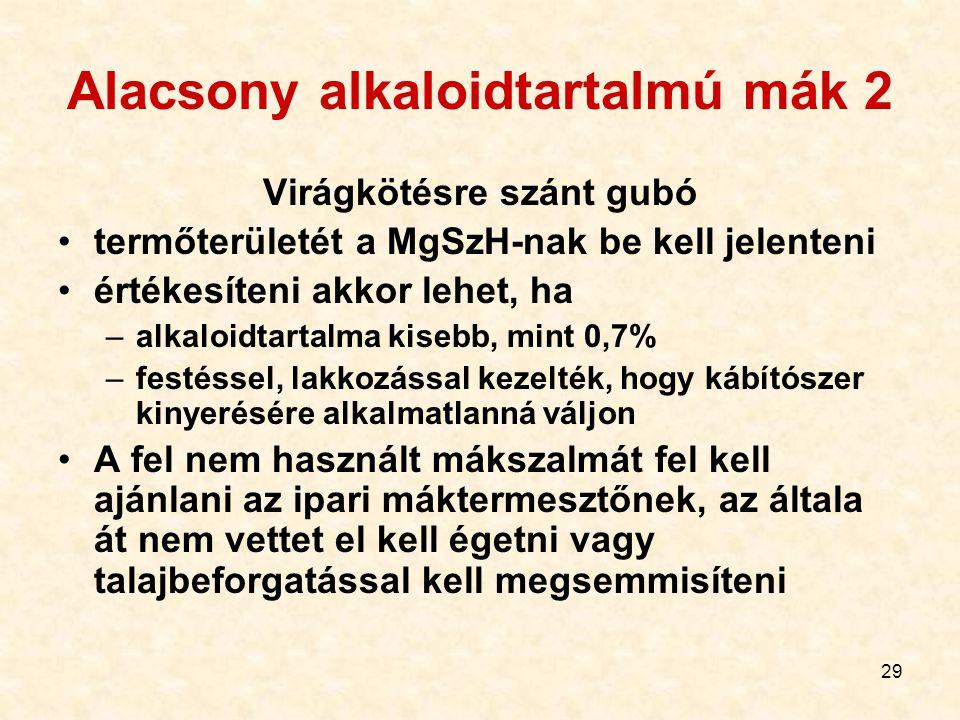 Alacsony alkaloidtartalmú mák 2