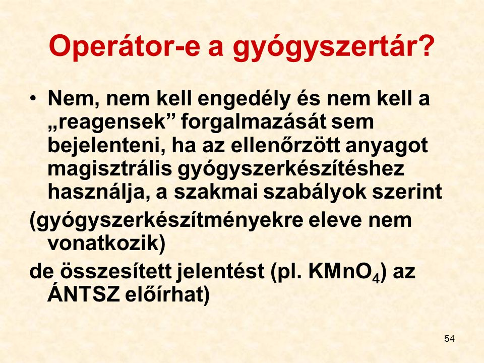 Operátor-e a gyógyszertár