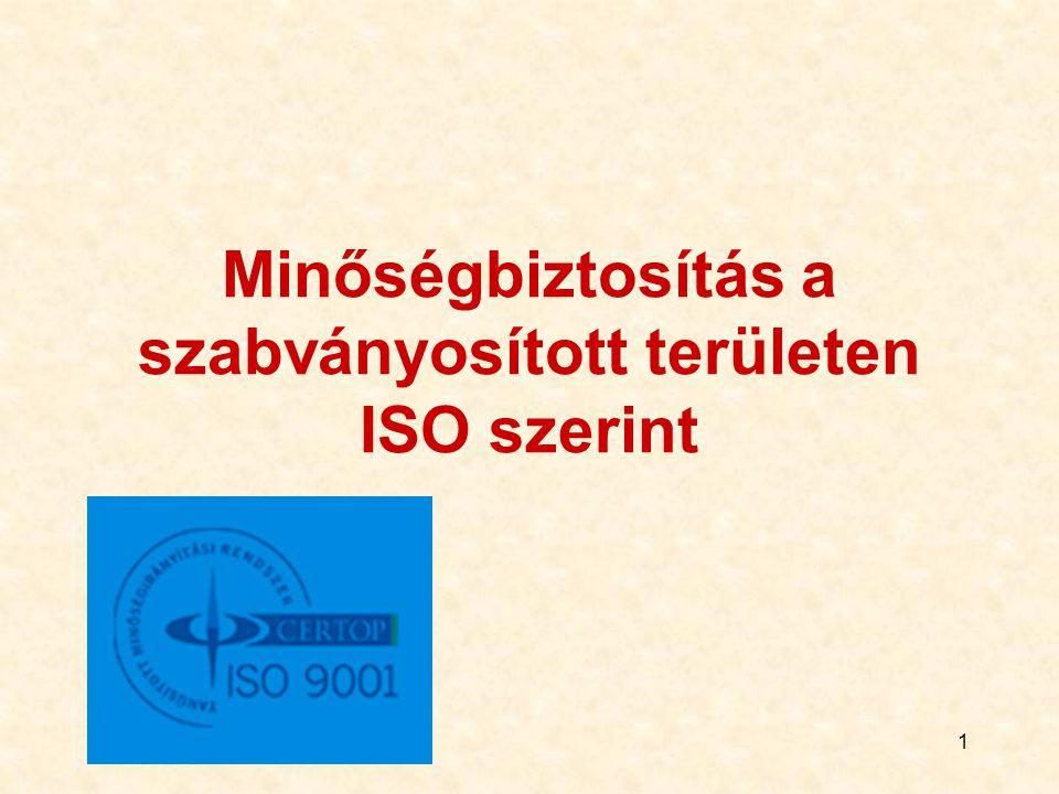 Minőségbiztosítás a szabványosított területen ISO szerint