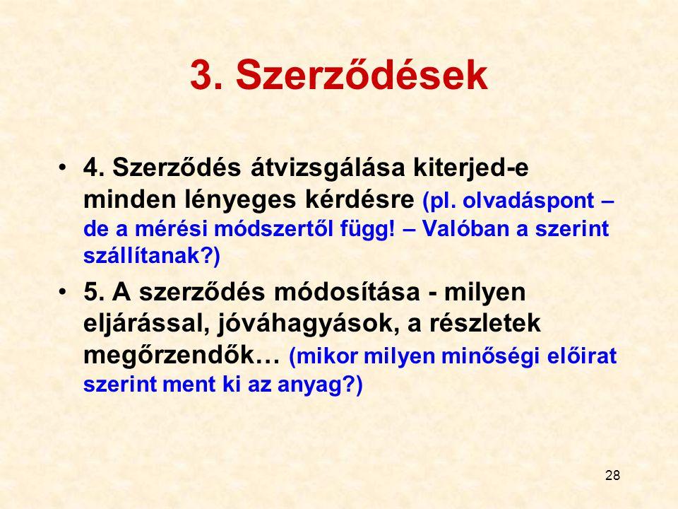 3. Szerződések