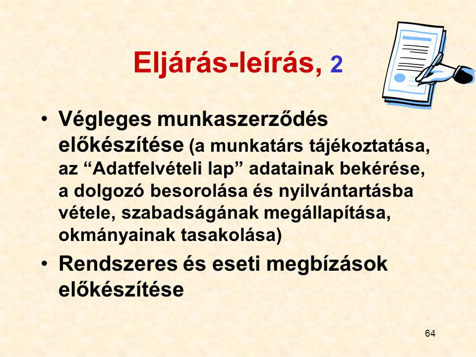 Eljárás-leírás, 2