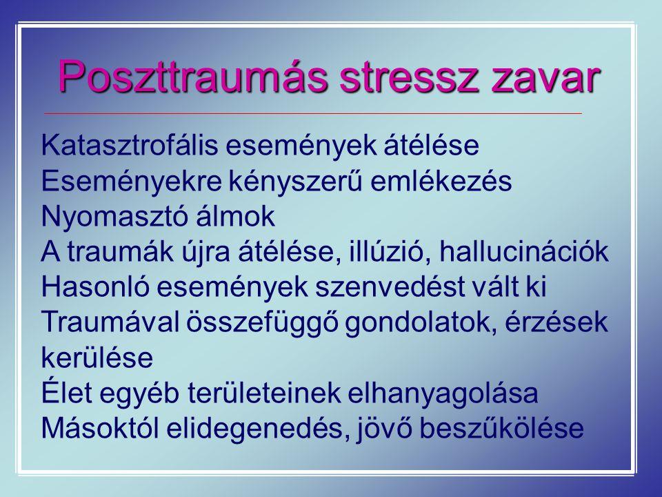 Poszttraumás stressz zavar