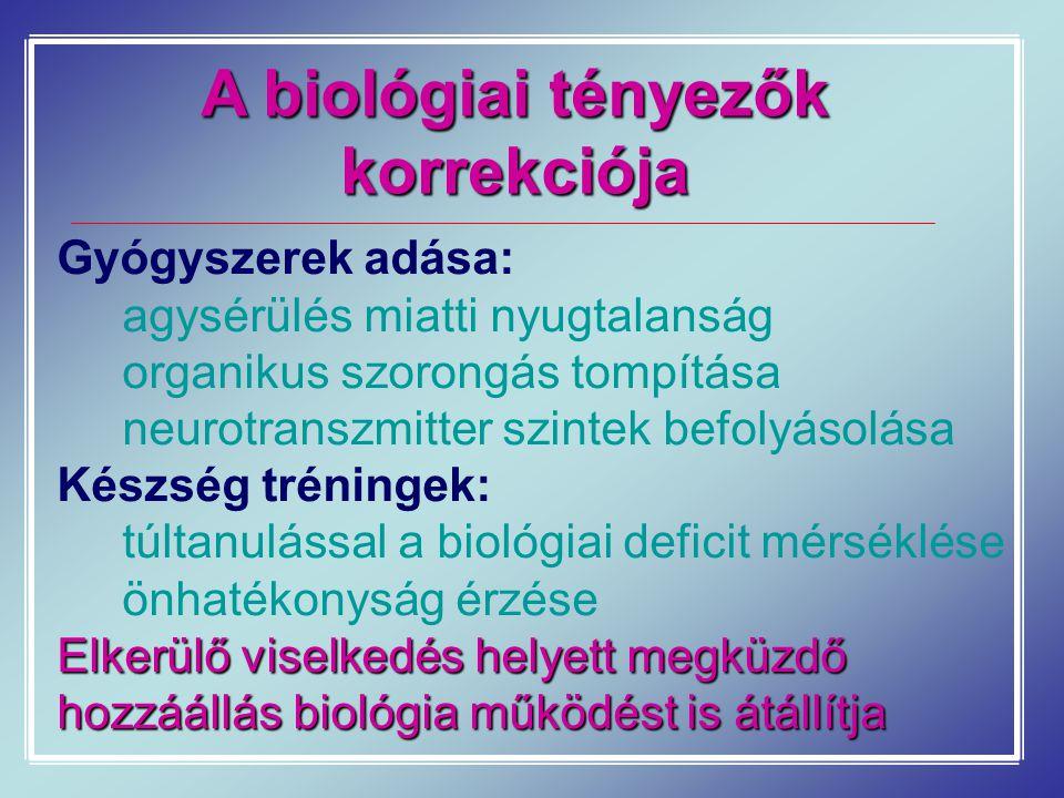 A biológiai tényezők korrekciója