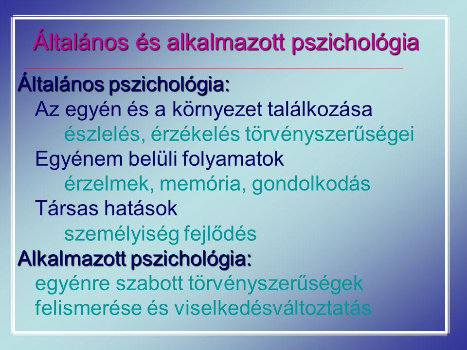Általános és alkalmazott pszichológia