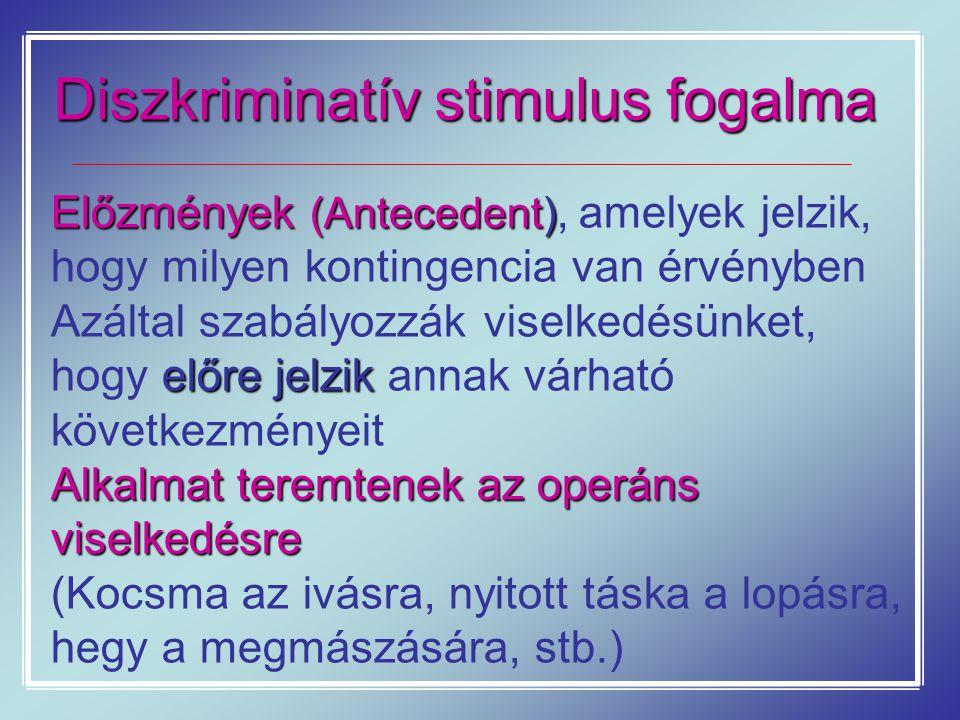 Diszkriminatív stimulus fogalma