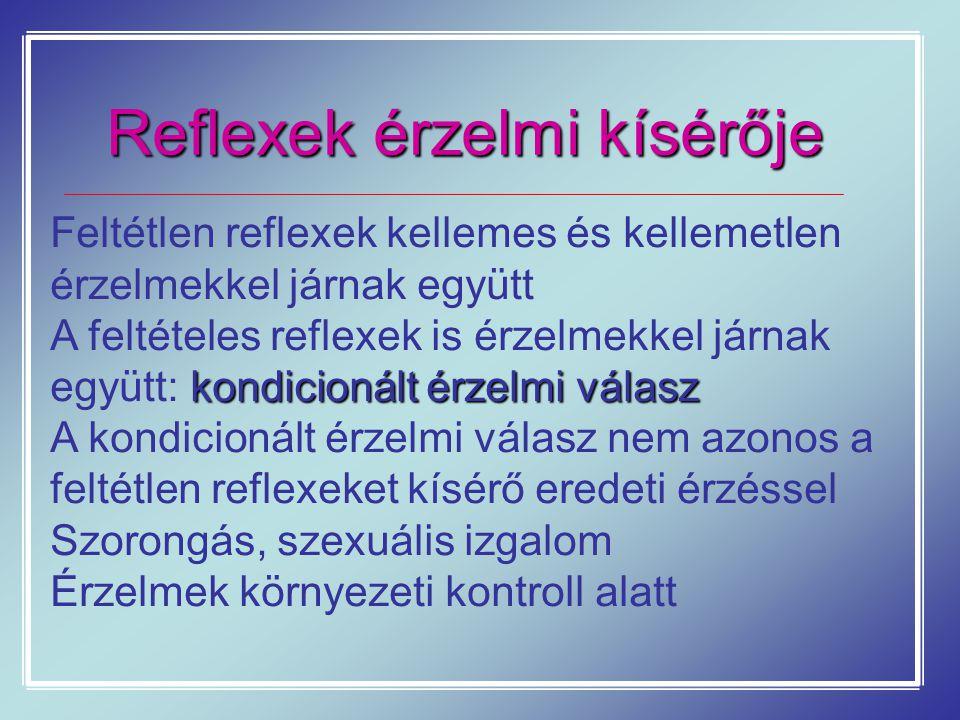 Reflexek érzelmi kísérője