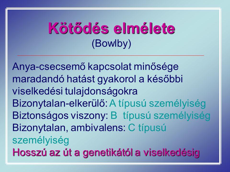 Kötődés elmélete (Bowlby)