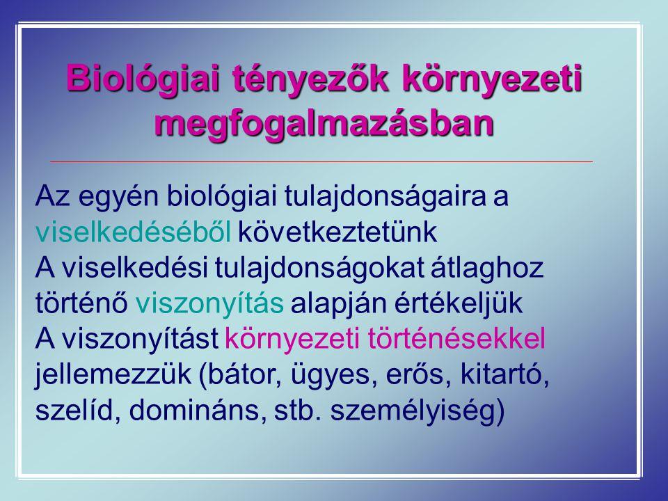 Biológiai tényezők környezeti megfogalmazásban