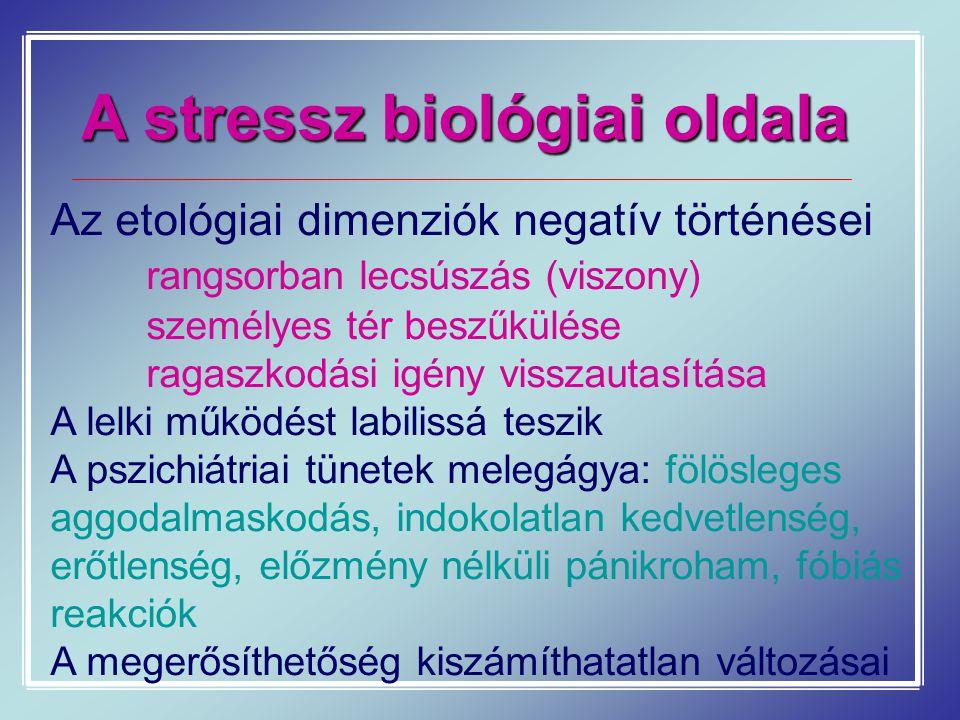 A stressz biológiai oldala