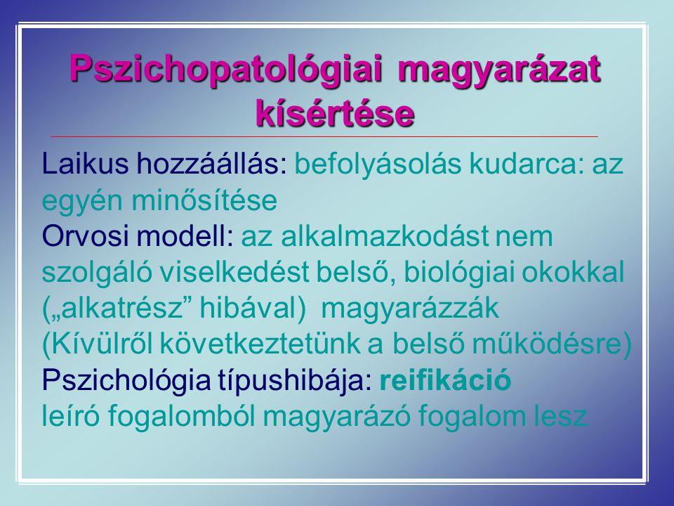Pszichopatológiai magyarázat kísértése