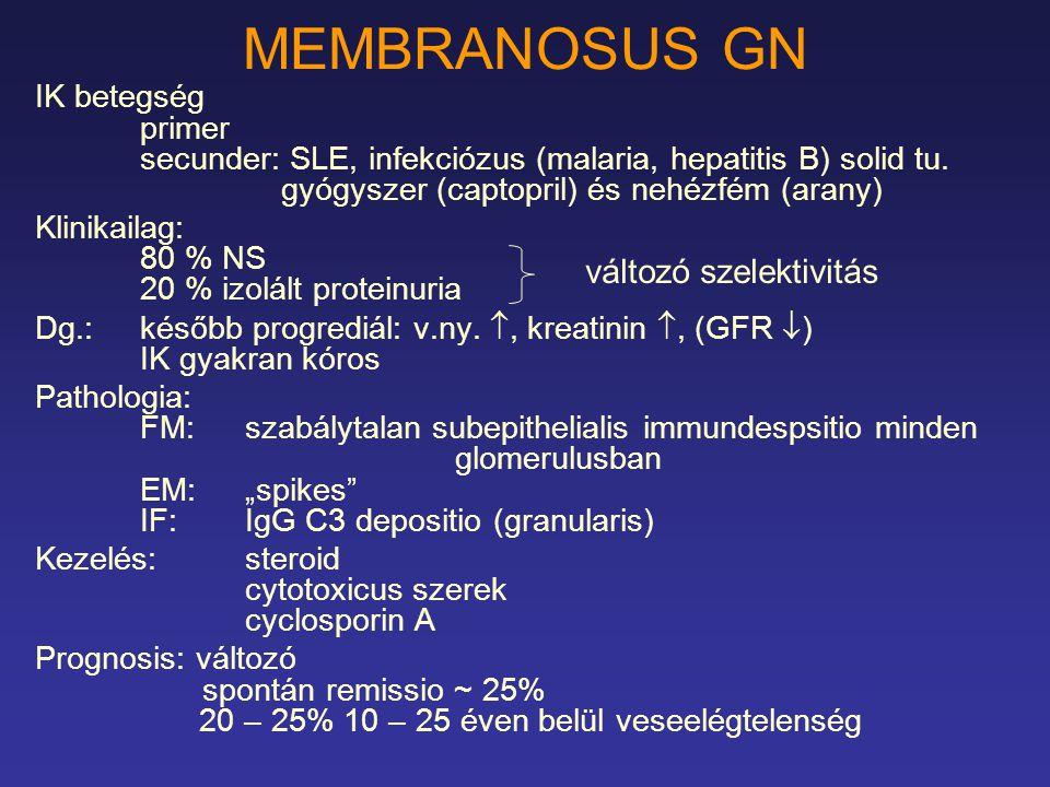 MEMBRANOSUS GN változó szelektivitás