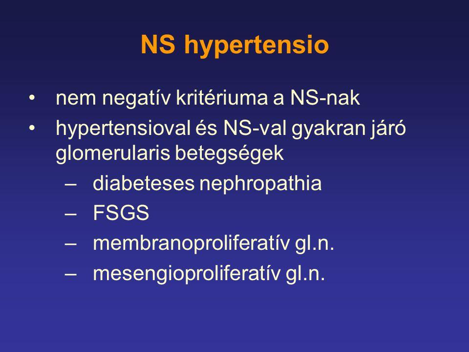 NS hypertensio nem negatív kritériuma a NS-nak
