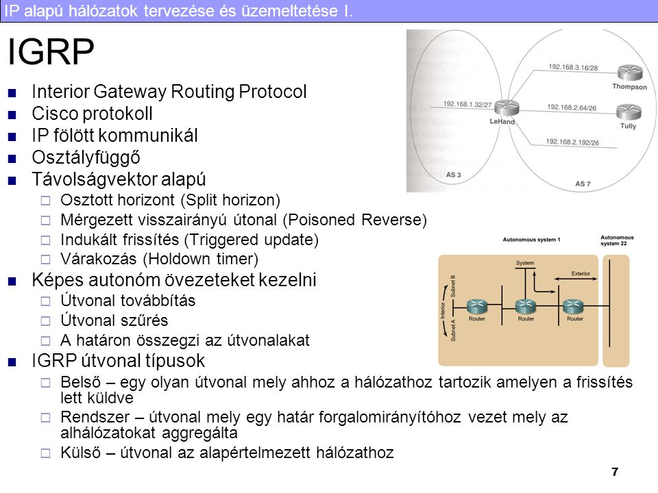 IGRP Interior Gateway Routing Protocol Cisco protokoll