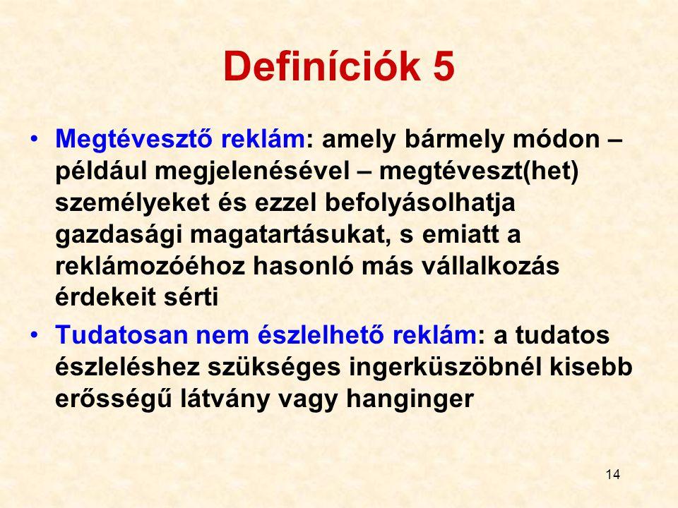 Definíciók 5
