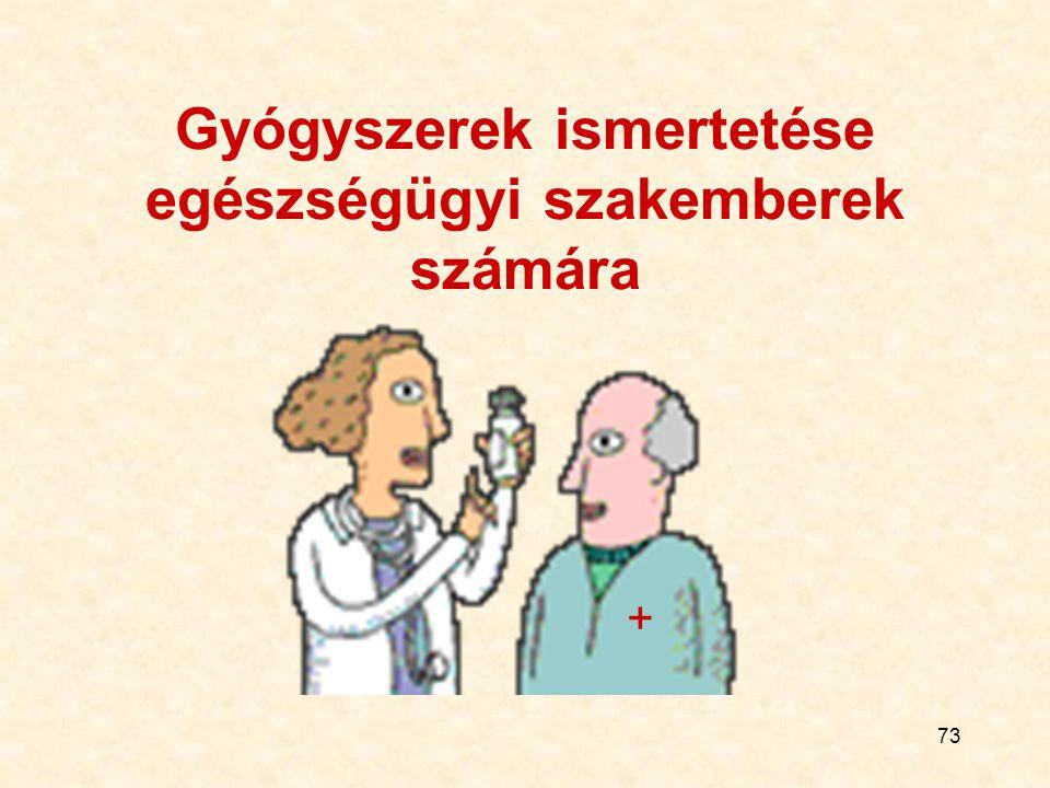 Gyógyszerek ismertetése egészségügyi szakemberek számára