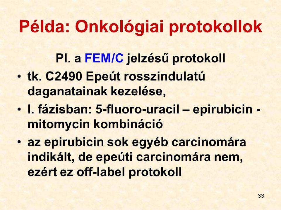 Példa: Onkológiai protokollok