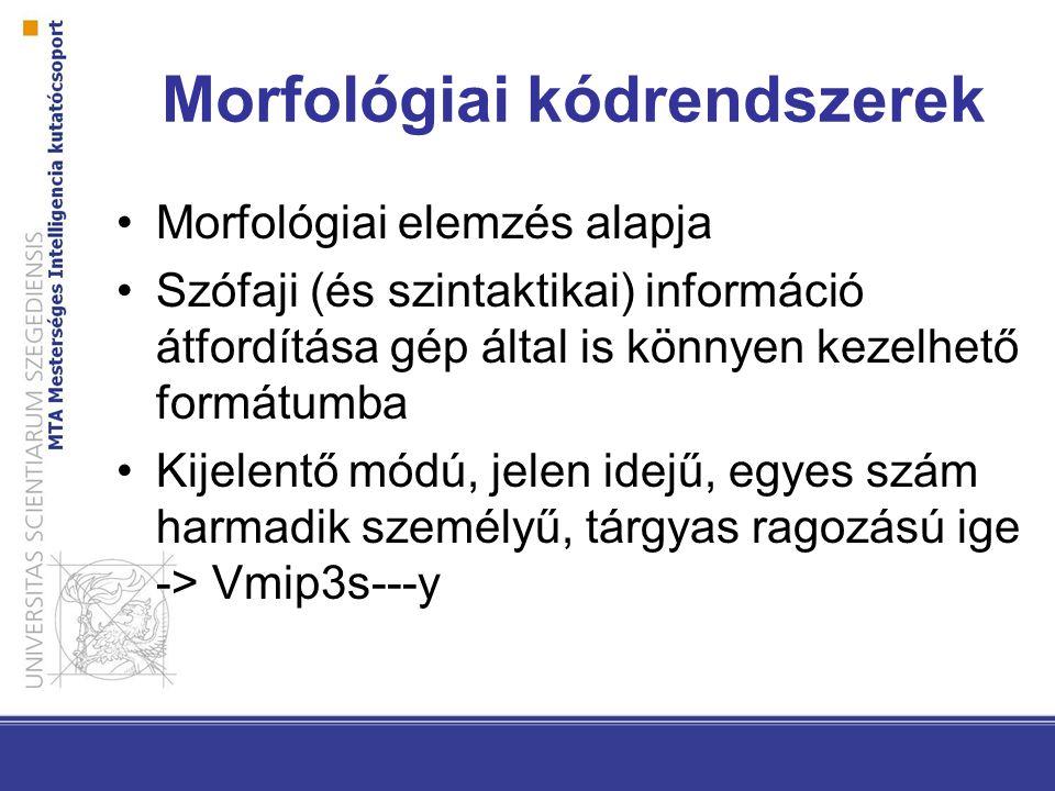Morfológiai kódrendszerek