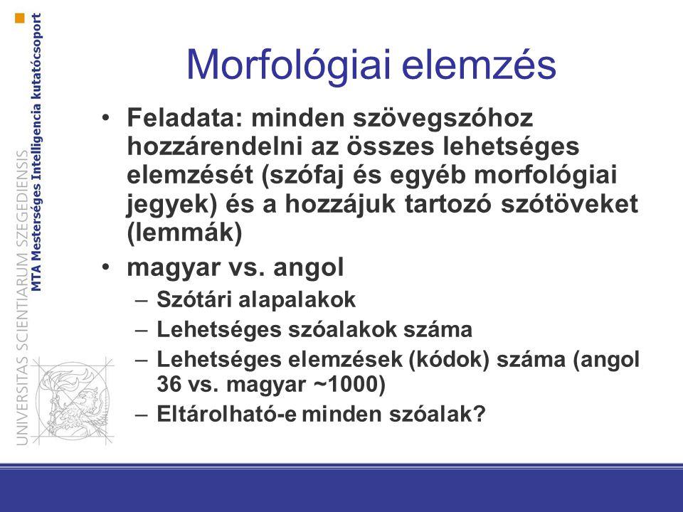 Morfológiai elemzés