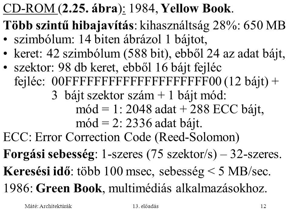 CD-ROM (2.25. ábra): 1984, Yellow Book.