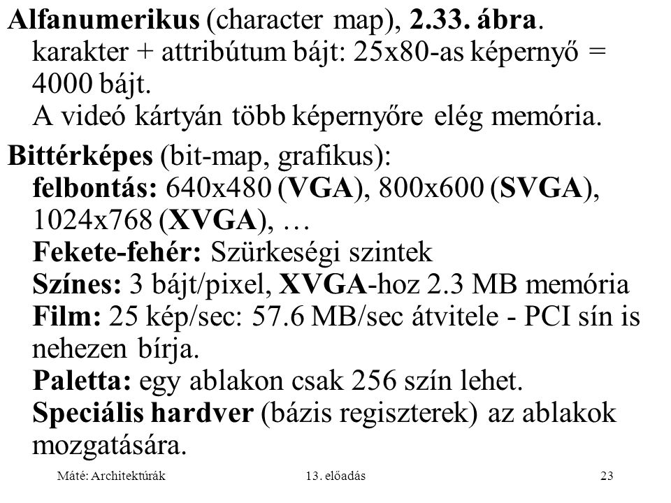 Alfanumerikus (character map), 2. 33. ábra