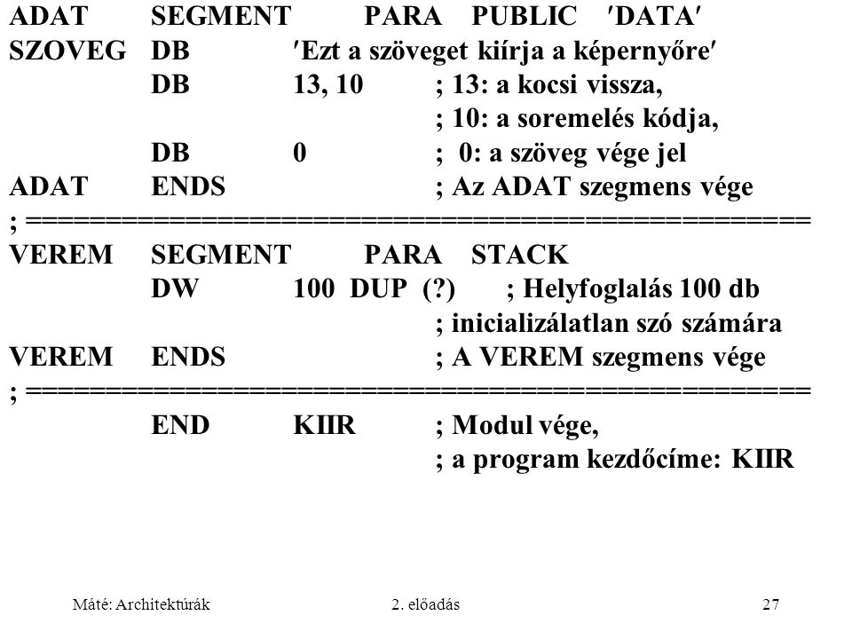 ADAT SEGMENT PARA PUBLIC DATA