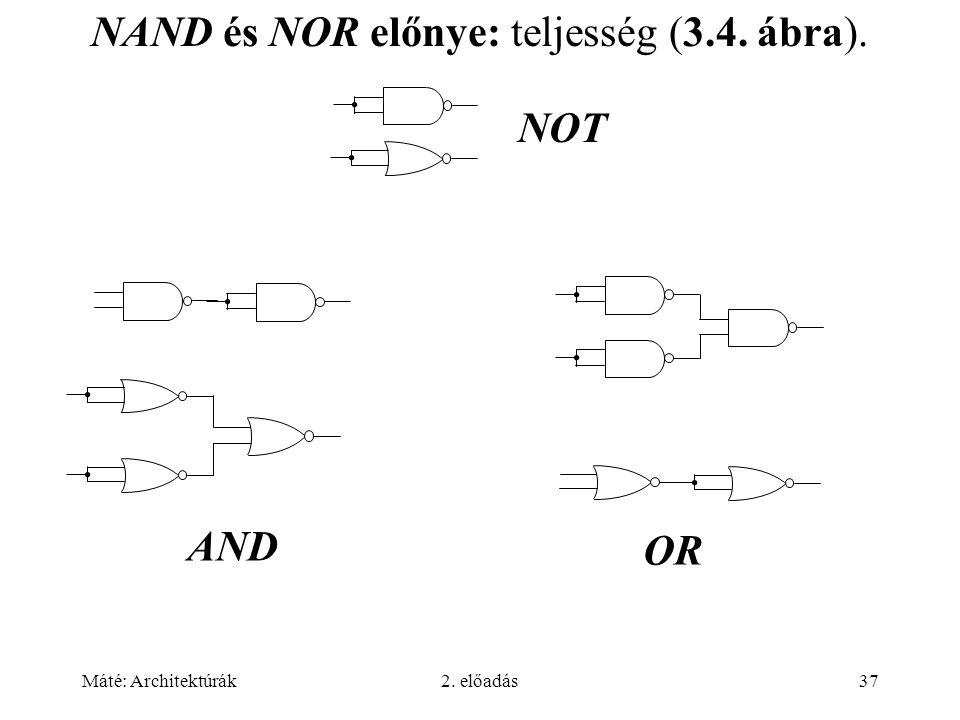 NAND és NOR előnye: teljesség (3.4. ábra).
