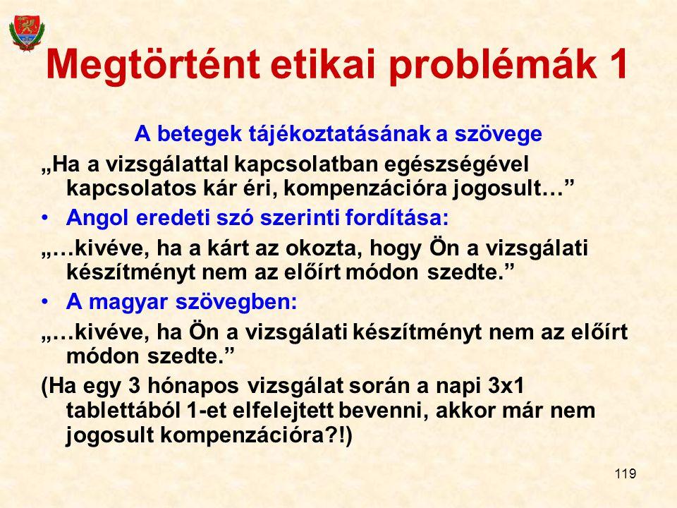 Megtörtént etikai problémák 1