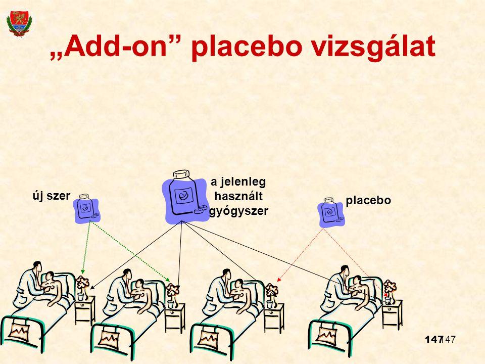 """""""Add-on placebo vizsgálat"""