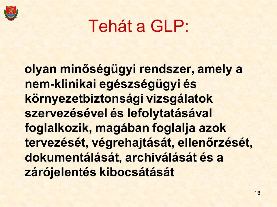 Tehát a GLP: