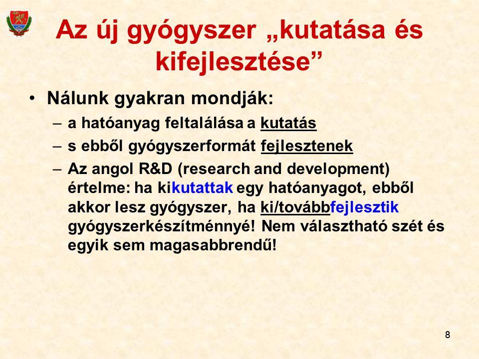 """Az új gyógyszer """"kutatása és kifejlesztése"""