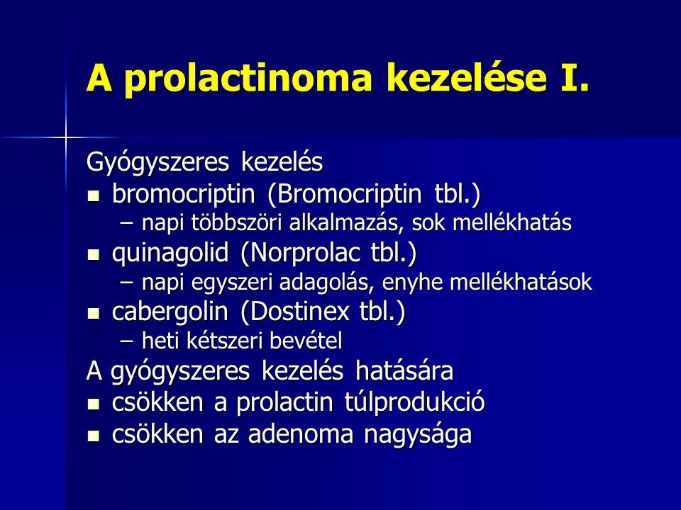 A prolactinoma kezelése I.