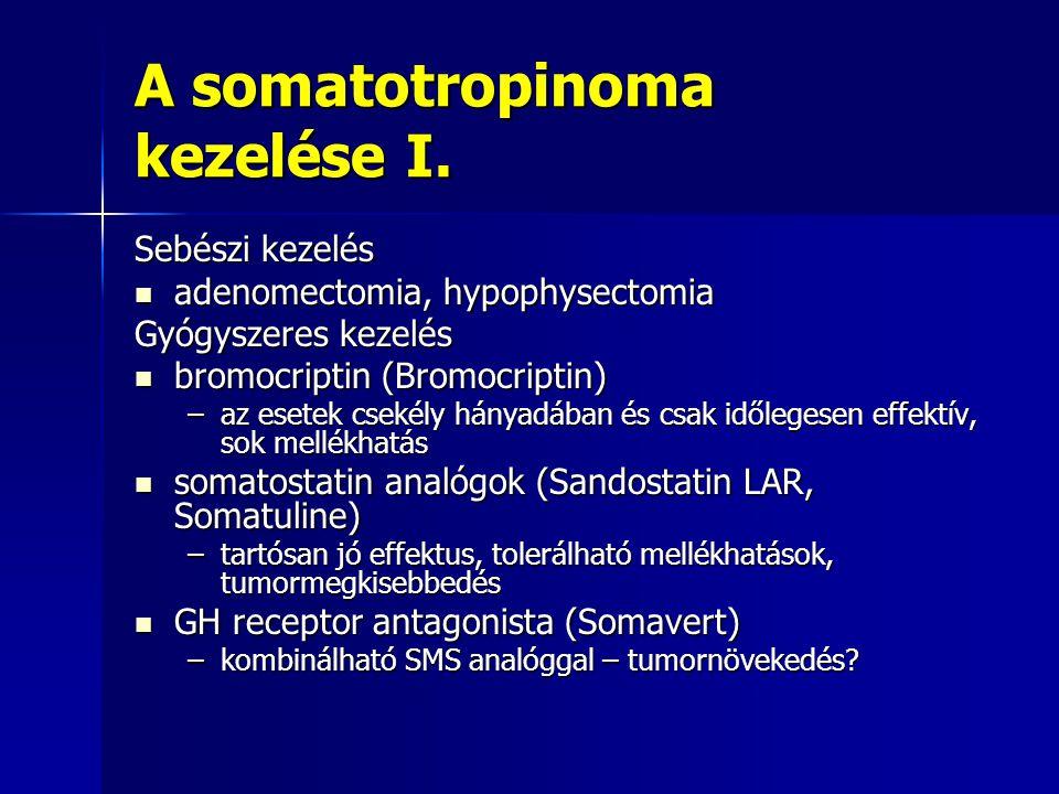 A somatotropinoma kezelése I.