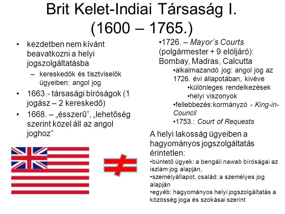 Brit Kelet-Indiai Társaság I. (1600 – 1765.)