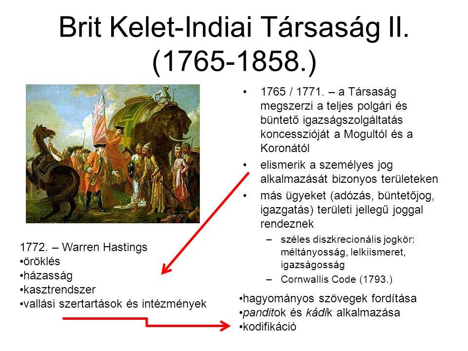 Brit Kelet-Indiai Társaság II. (1765-1858.)