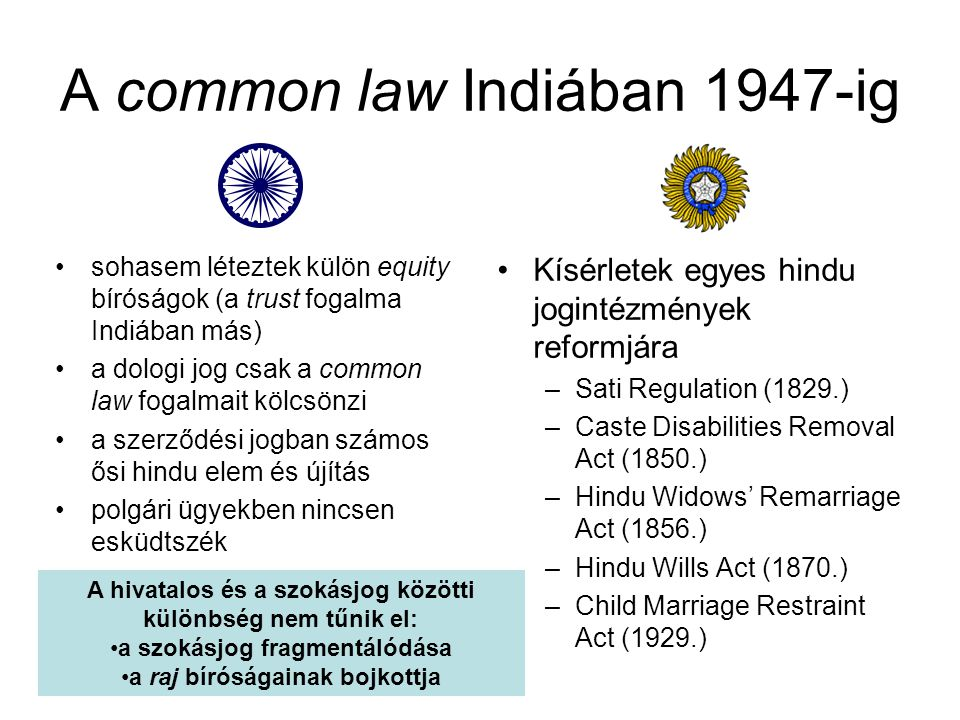 A common law Indiában 1947-ig