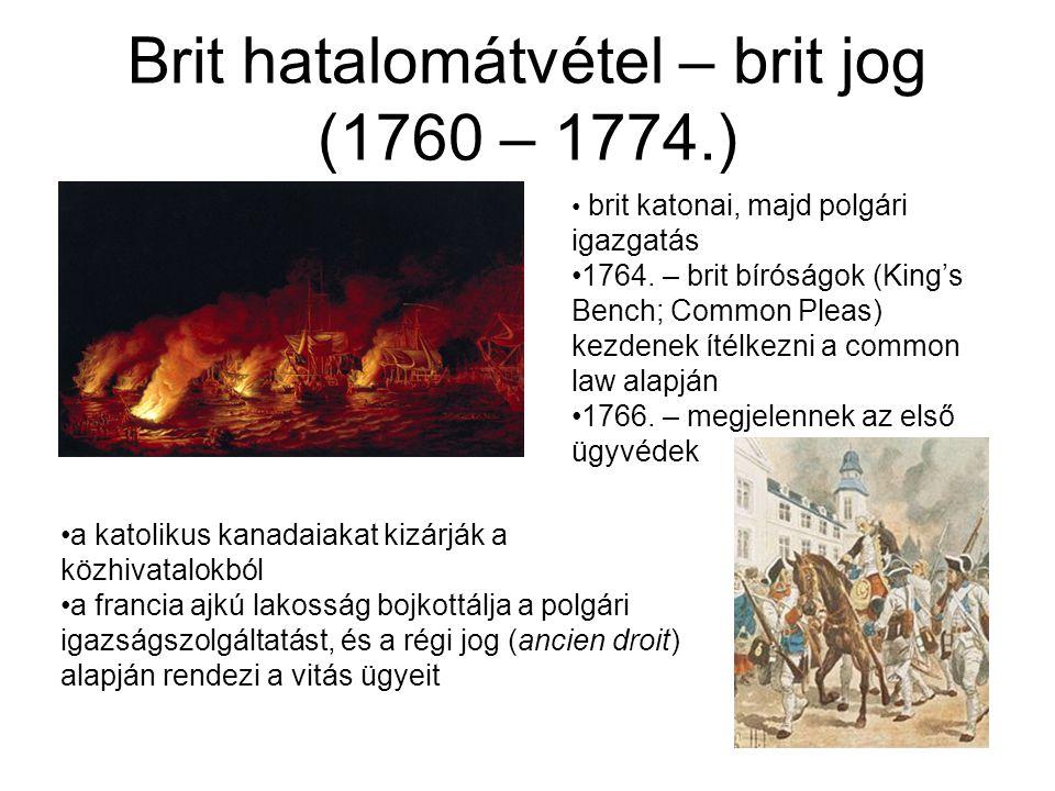 Brit hatalomátvétel – brit jog (1760 – 1774.)