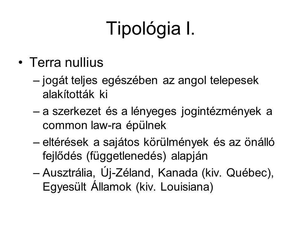 Tipológia I. Terra nullius