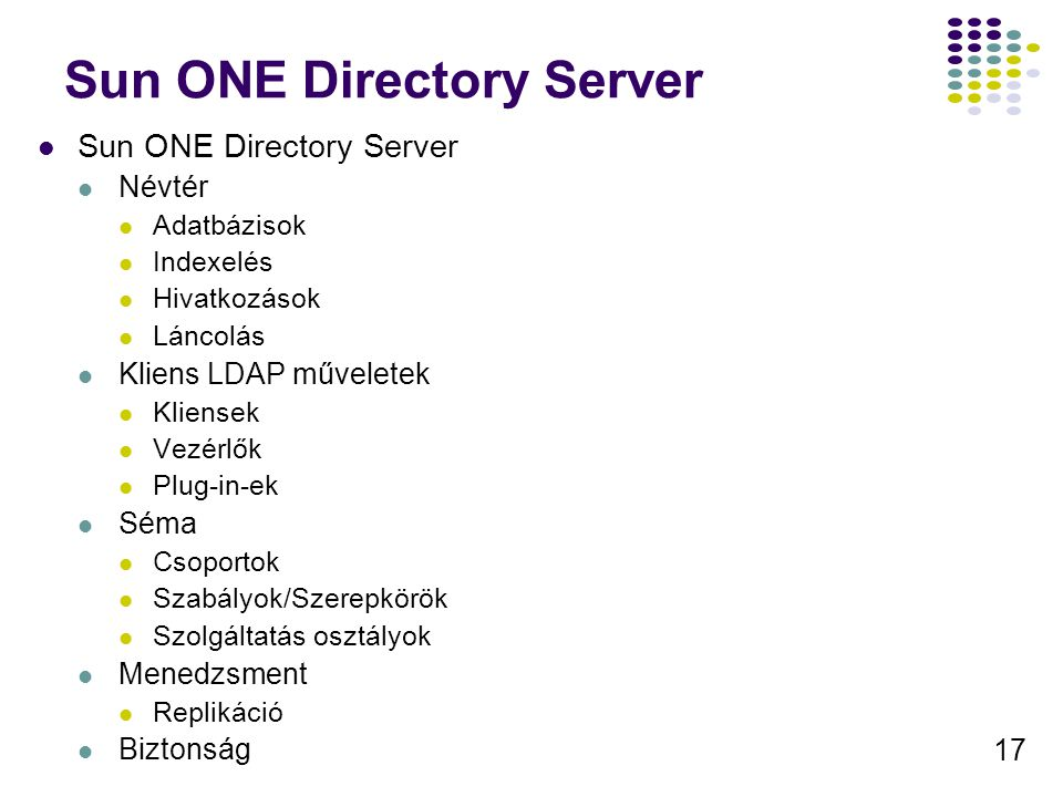 Sun ONE Directory Server