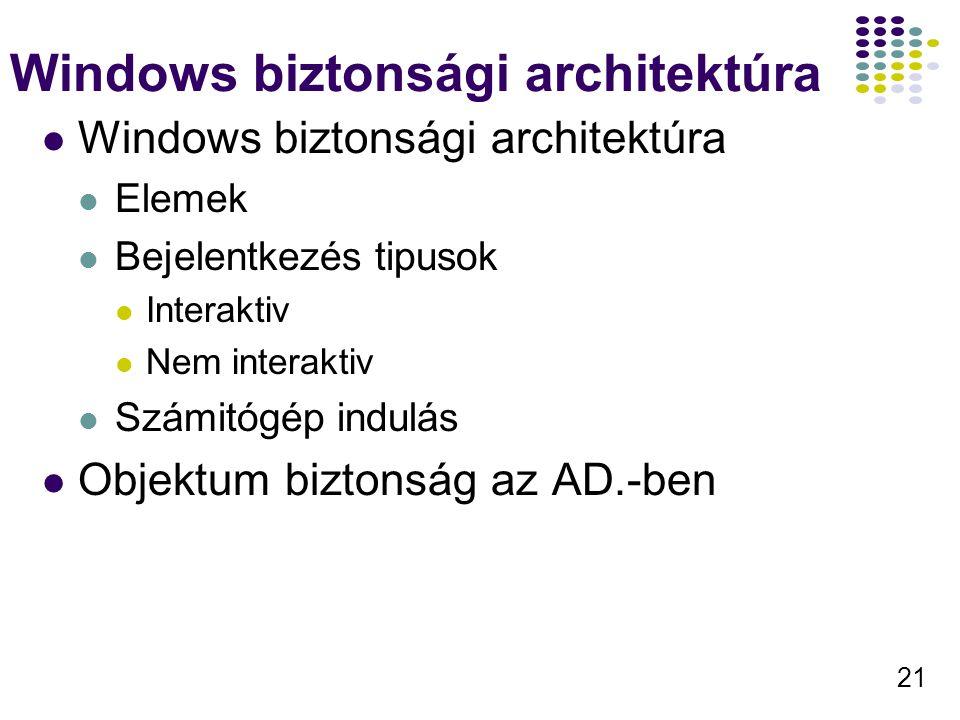 Windows biztonsági architektúra