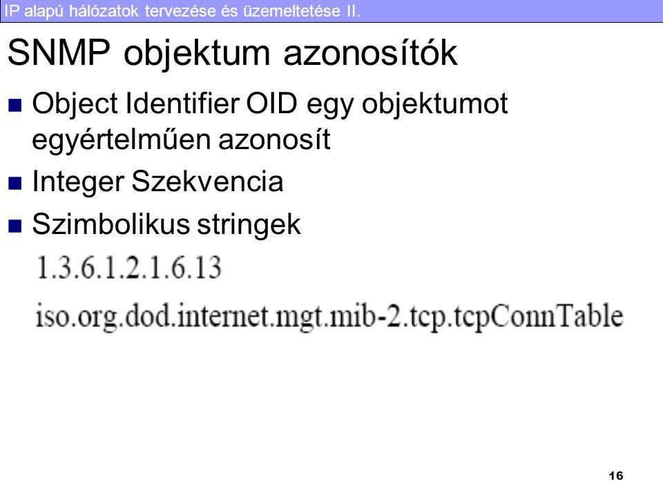SNMP objektum azonosítók