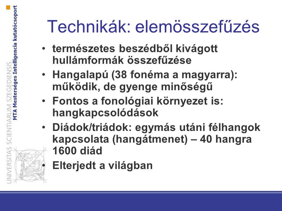 Technikák: elemösszefűzés