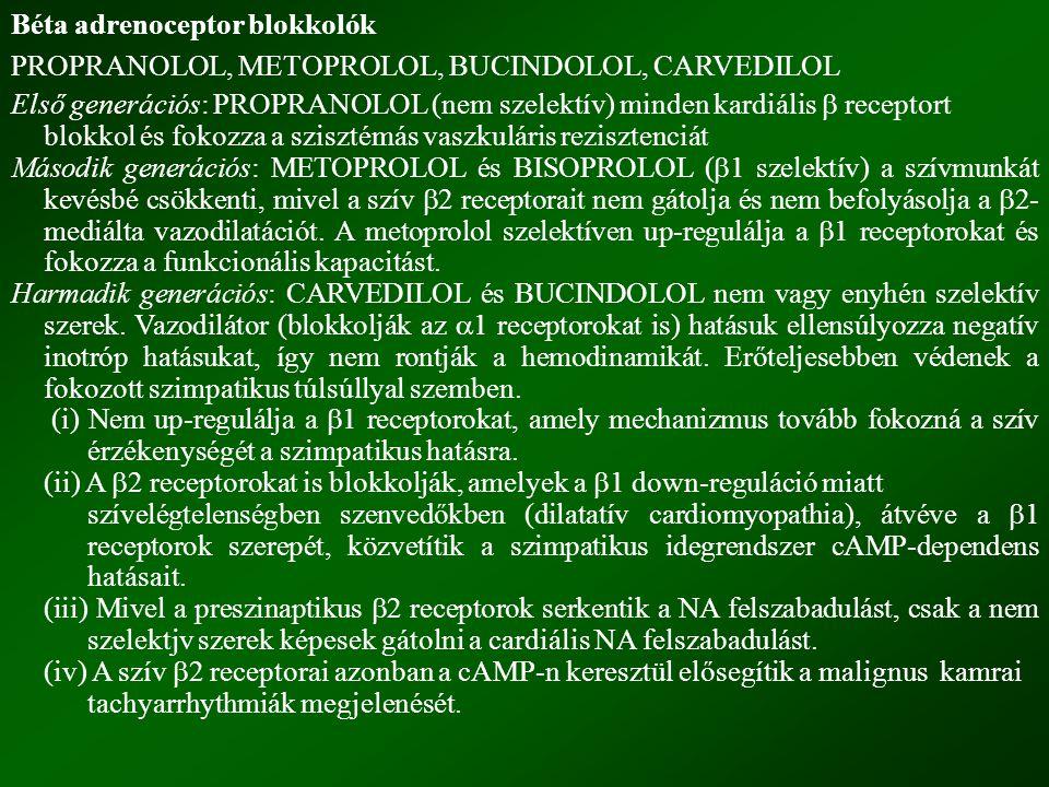 Béta adrenoceptor blokkolók