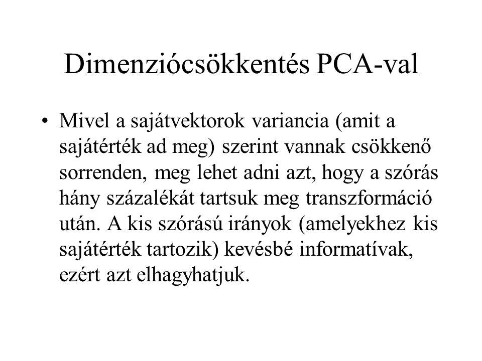 Dimenziócsökkentés PCA-val