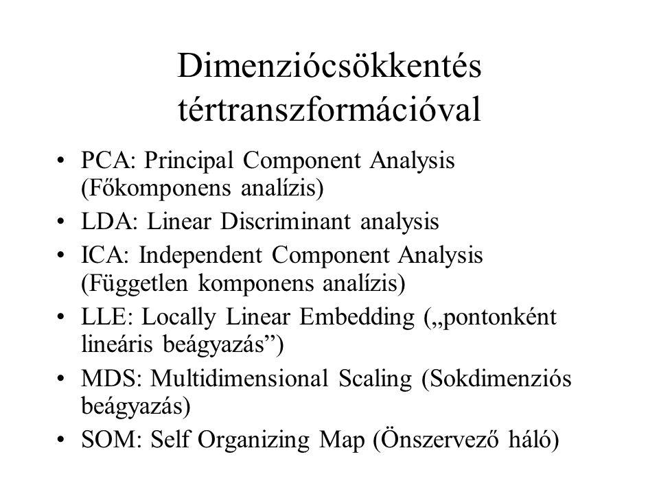 Dimenziócsökkentés tértranszformációval